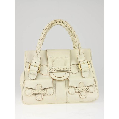 Valentino Garavani White Leather Histoire Bag