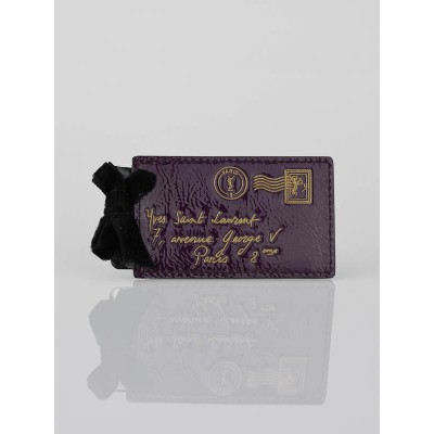 Yves Saint Laurent Purple Patent Leather Y-Mail Mirror
