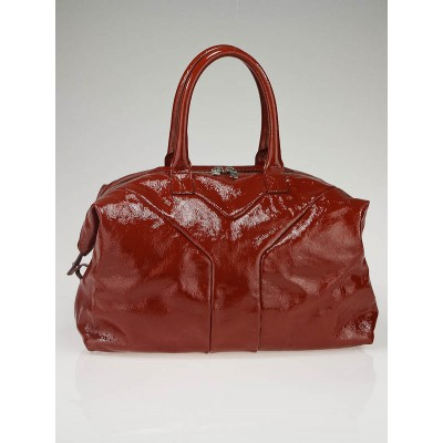 Yves Saint Laurent Red Patent Leather Easy Medium Bag