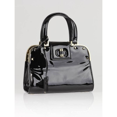 Yves Saint Laurent Black Patent Leather Small Uptown Bag