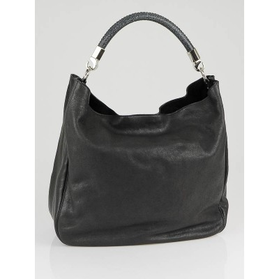 Yves Saint Laurent Black Leather and Stingray Roady Bag