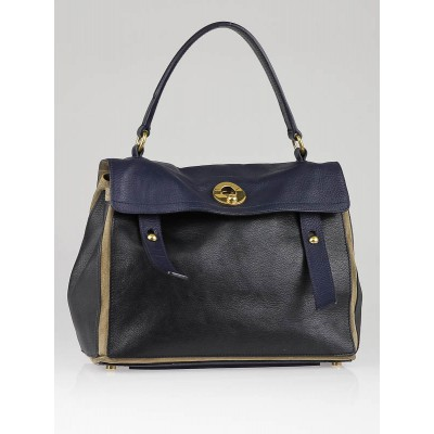 Yves Saint Laurent Tri-Color Leather and Suede Medium Muse Two Bag
