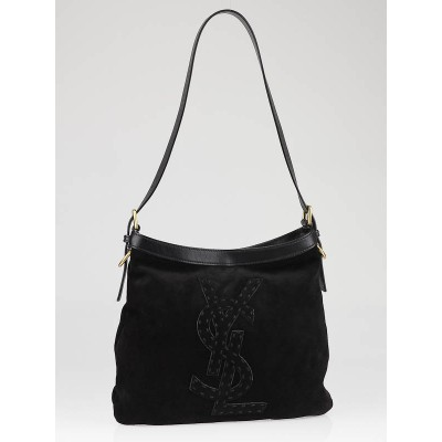 Yves Saint Laurent Black Suede Seville Shoulder Bag