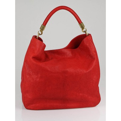 Yves Saint Laurent Red Polished Chevre Leather Roady Bag