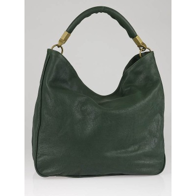 Yves Saint Laurent Hunter Green Leather Roady Bag