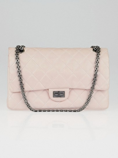 Chanel Light Pink Reissue 2.55 Quilted Classic Lambskin Leather 226 Flap Bag
