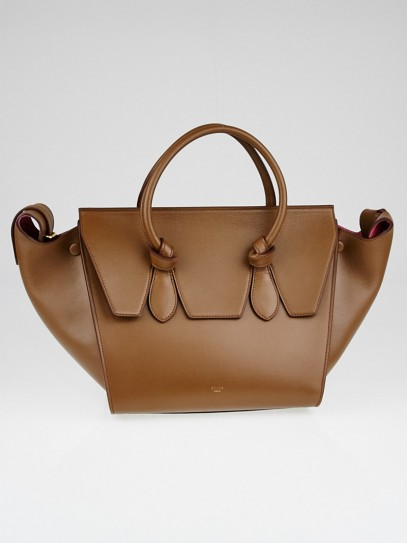 Celine Camel Palmelatto Calfskin Leather Mini Tie Tote Bag