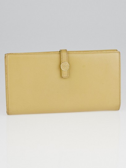 Chanel Beige Leather Continental Long Wallet