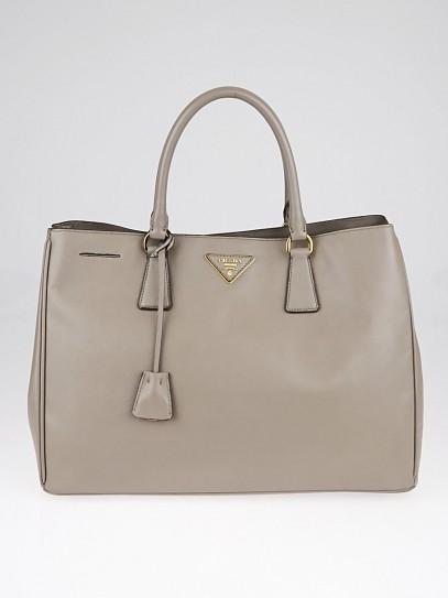 Prada Argilla Saffiano Lux Leather Large Tote Bag BN1844