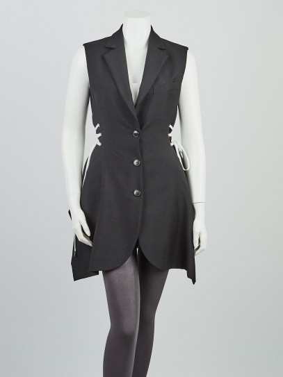 Christian Dior Black Wool Blend Vest Jacket Size 6/40