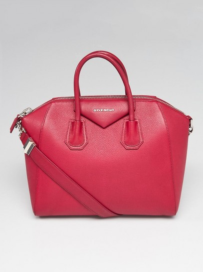 Givenchy Magenta Sugar Goatskin Leather Medium Antigona Bag