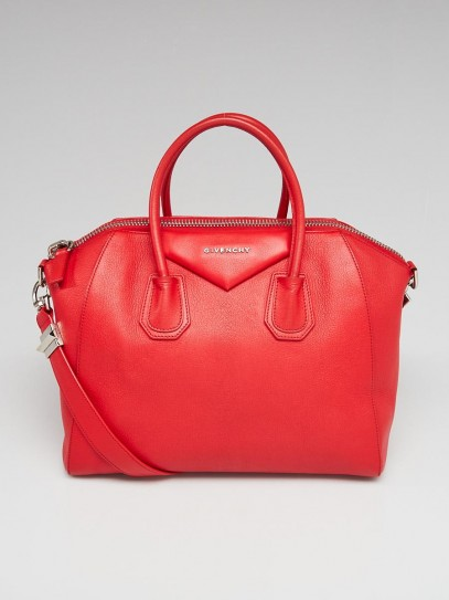 Givenchy Red Sugar Goatskin Leather Medium Antigona Bag