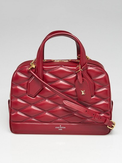 Louis Vuitton Carmine Lambskin Leather Malletage Dora PM Bag