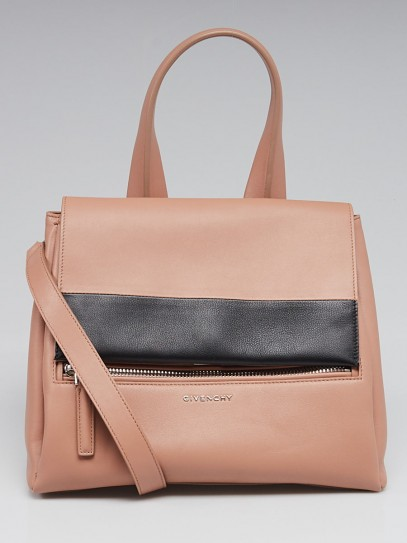 Givenchy Pink/Black Bi-Colored Calf Leather Small Pandora Pure Bag