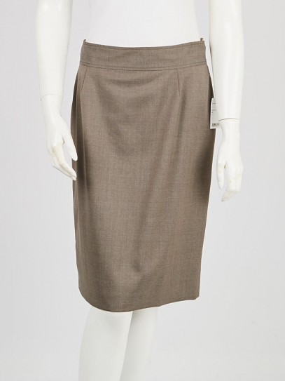Stella McCartney Grey Wool Pencil Skirt Size 10/44