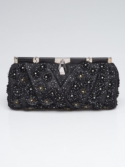 Louis Vuitton Black Sequin and Bead Clutch Bag