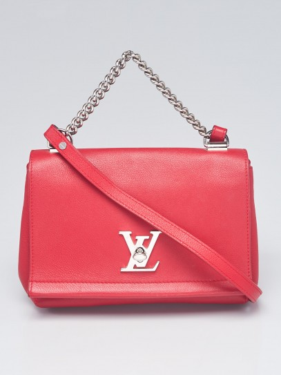 Louis Vuitton Rubis Pebbled Leather Lockme II BB