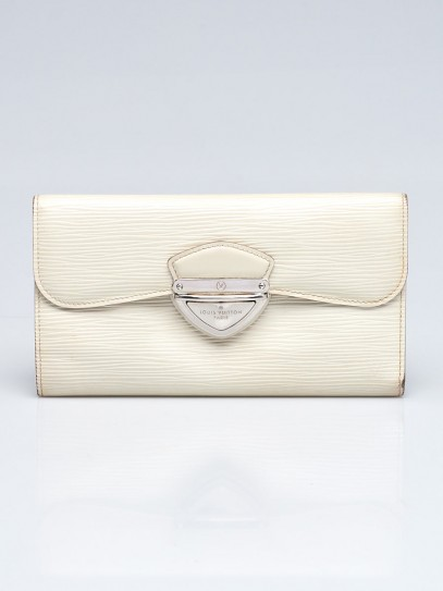Louis Vuitton White Epi Leather Eugenie Wallet