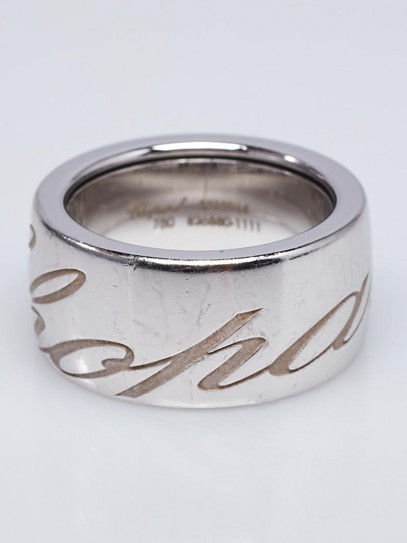 Chopard 18k White Gold Chopardissimo Ring Size 6.5