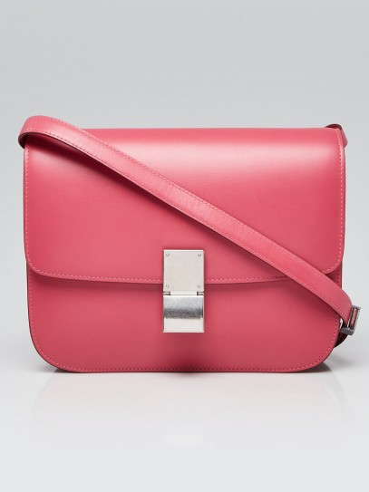 Celine Bubble Pink Smooth Leather Medium Box Bag