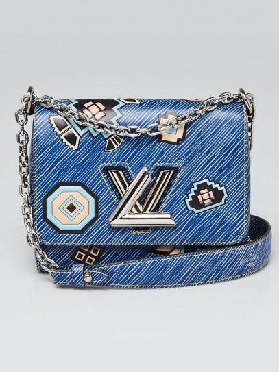 Louis Vuitton Blue Denim Aztec Epi Leather Twist PM Bag