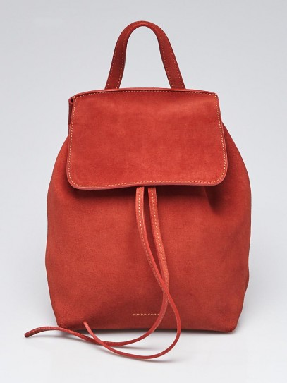 Mansur Gavriel Brick Suede Mini Backpack Bag