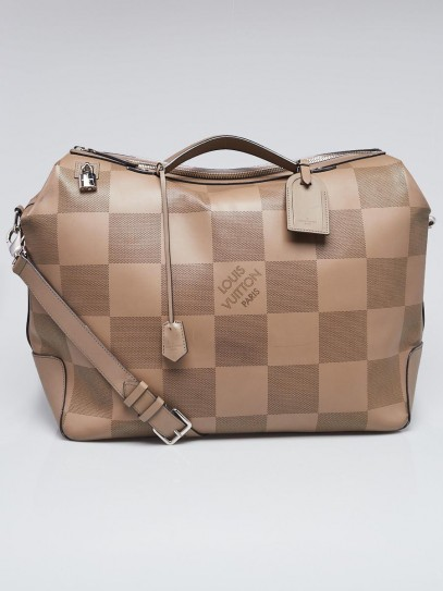 Louis Vuitton Taupe Nomade Grand Damier Leather Neo Greenwich Bag