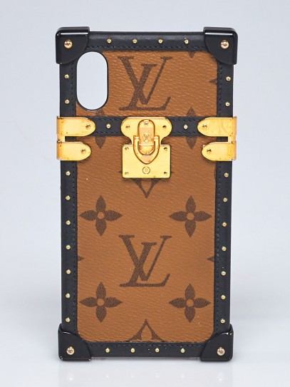 Louis Vuitton Monogram Reverse Canvas Eye Trunk iPhone X/XS Plus Cover