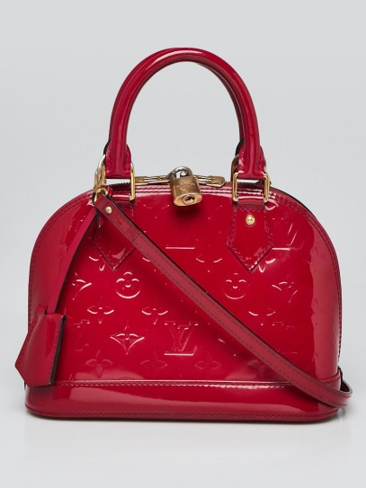Louis Vuitton Rose Indian Monogram Vernis Alma BB Bag