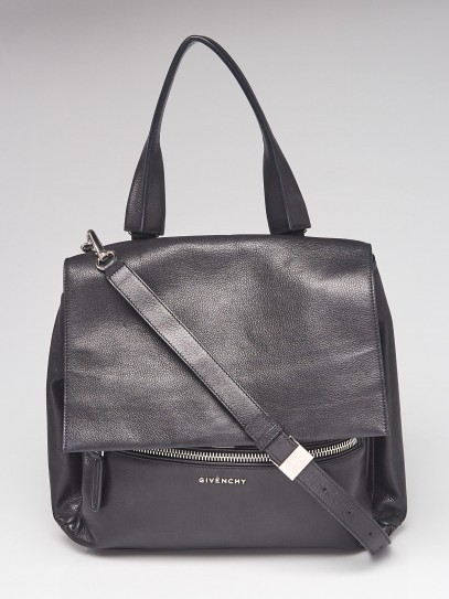 Givenchy Black Leather Pandora Pure Medium Bag