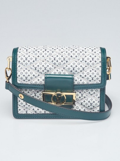 Louis Vuitton Green Quilted Monogram Denim Mini Dauphine Bag