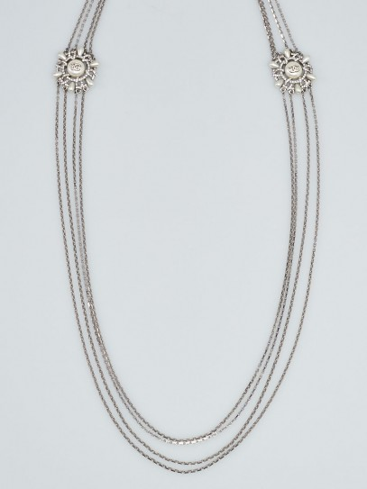 Chanel Crystal and Faux Pearl Multi-Strand Long Necklace