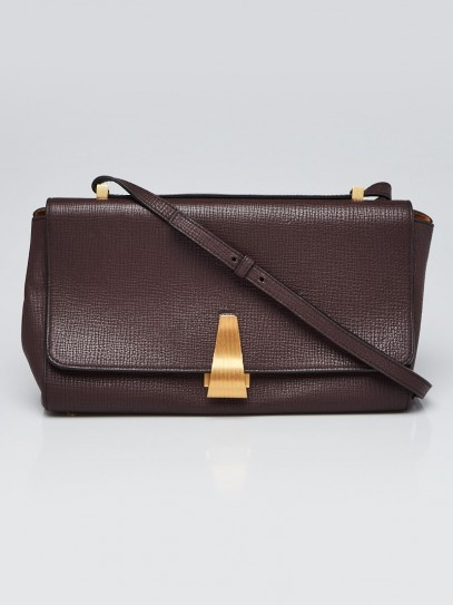 Bottega Veneta Ox Blood Grained Leather BV Angle Bag