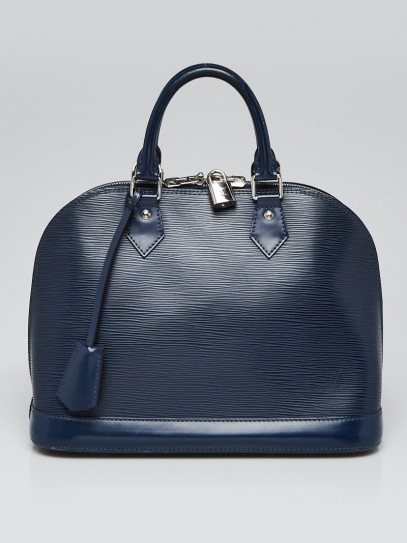 Louis Vuitton Indigo Epi Leather Alma PM Bag
