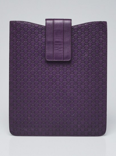 Gucci Purple Guccissima Leather iPad Case