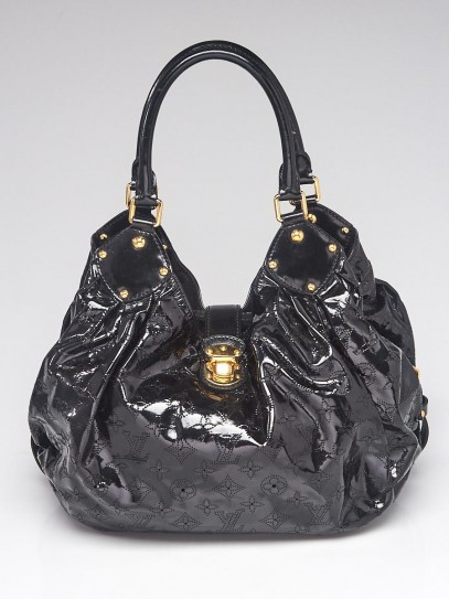 Louis Vuitton Limited Edition Black Patent Leather Surya L Bag