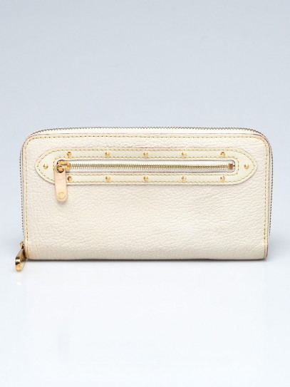 Louis Vuitton White Suhali Leather Zippy Wallet