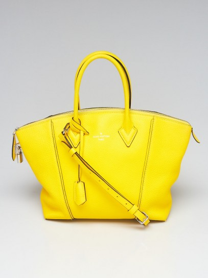 Louis Vuitton Yellow Taurillon Leather Soft Lockit PM Bag