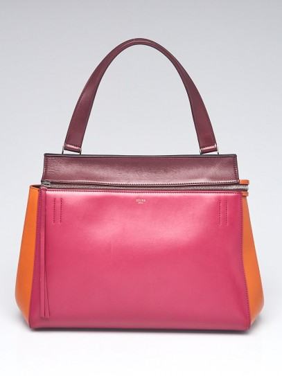 Celine Tri-Colored Smooth Calfskin Leather Medium Edge Bag