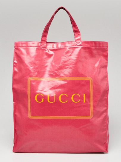 Gucci Pink/Orange Coated Canvas Montecarlo Tote Bag