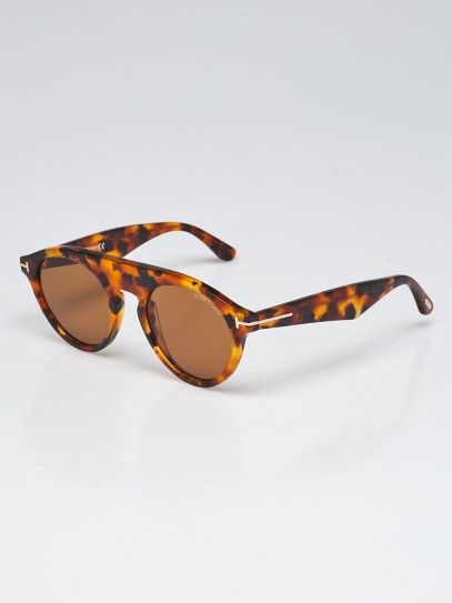 Tom Ford Tortoise Shell Acetate Round Frame Christopher 02 Sunglasses TF633