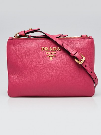 Prada Peonia Vitello Phenix Leather Crossbody Bag 1BH046