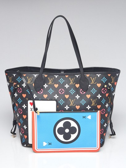 Louis Vuitton Black Multicolor Monogram Canvas Game On Neverfull MM Bag