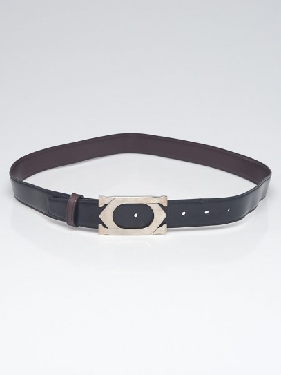 Cartier Black/Brown Smooth Leather Reversible Belt