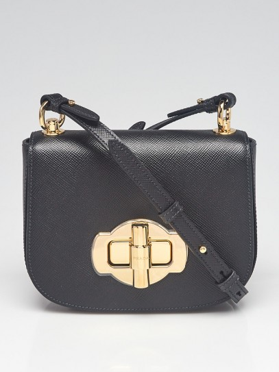 Prada Black Saffiano Leather Crossbody Bag 1BD239