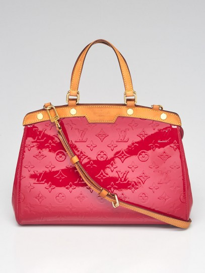 Louis Vuitton Rose Indian Monogram Vernis Brea MM Bag