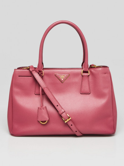Prada Pink Saffiano Lux Leather Small Tote Bag BN1874