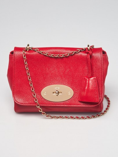 Mulberry Red Grainy Leather Small Lily Bag