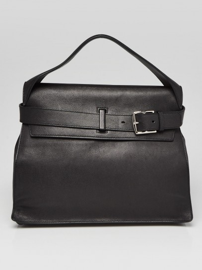 Hermes Black Evergrain Calfskin Leather Palladium Plated Etribelt Bag