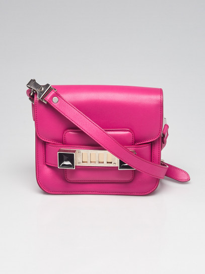 Proenza Schouler Fuxia Leather PS11 Tiny Classic Bag